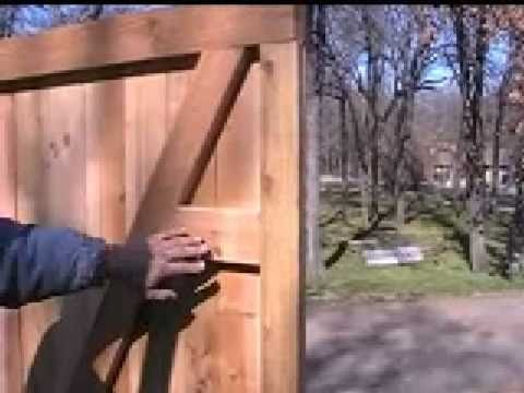 How To Build A Custom Cedar Privacy Walk Gate Youtube
