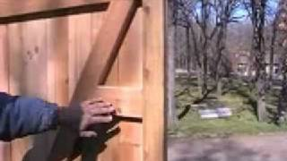 How To Build A Custom Cedar Privacy Walk Gate