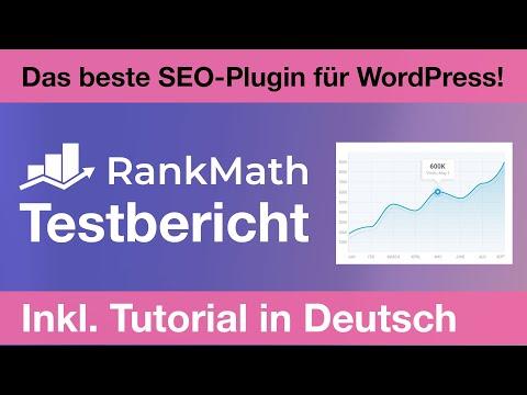 Rank Math Test: Free + Pro Testbericht + Tutorial auf Deutsch = Das beste SEO-Plugin für WordPress!