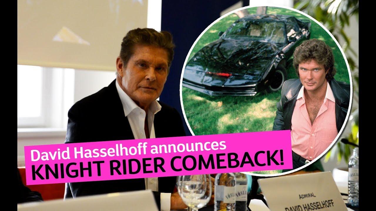 David Hasselhoff announces KNIGHT RIDER Movie (2019)