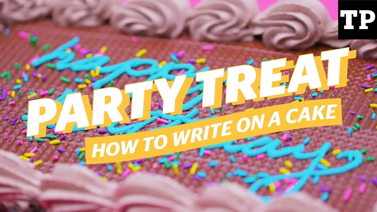 How To Write A Birthday Message On A Cake Youtube