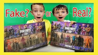 NEW Fortnite Toys Unboxing Collection FAKE? or REAL? Ginger Cuddle Team Leader, Llama Epic Battle