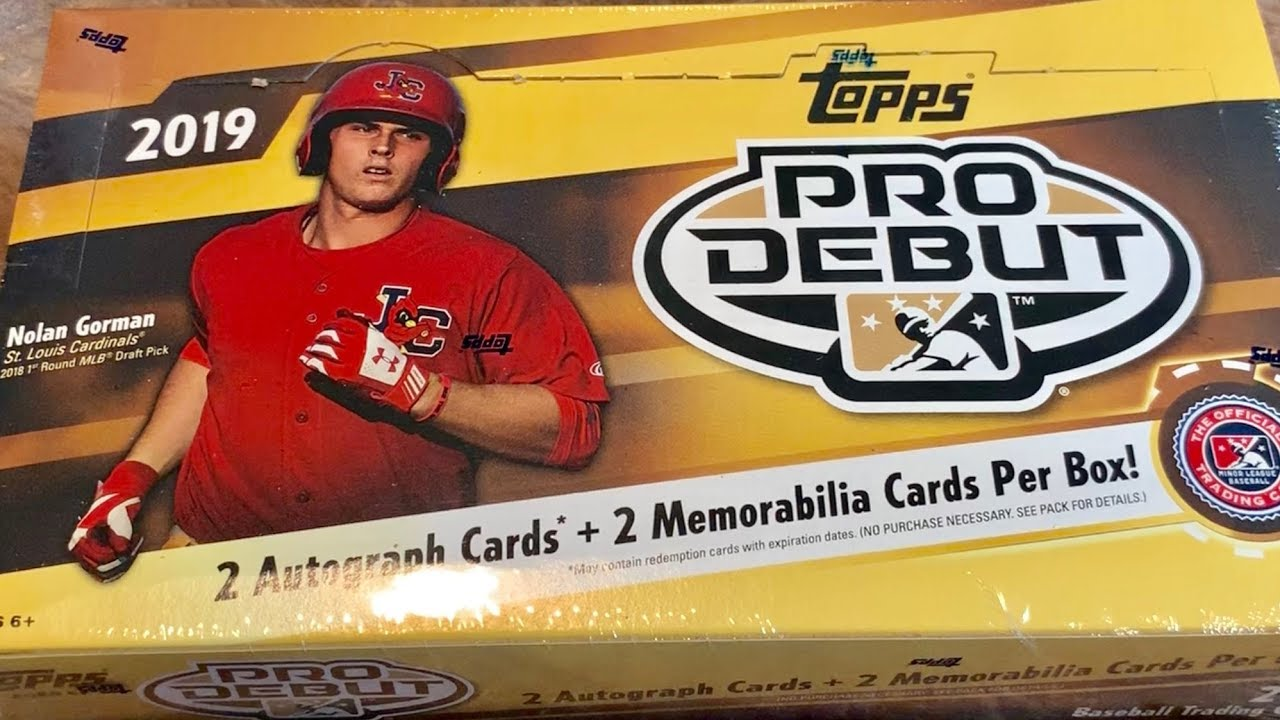 New Release 2019 Topps Pro Debut Baseball Card Hobby Box Opening