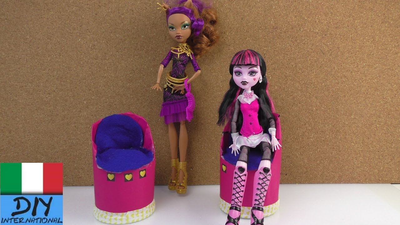 Mobili Per La Casa Di Barbie : Poltrona per barbie e per monster high fai da te poltrona da