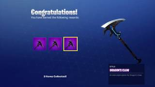 NOUVEAU UNLOCKING THE DRAGONS CLAW ADDITIONAL STYLES sur Fortnite Battle Royale Saison 8