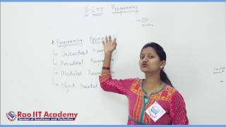 C++ Part 1 Computer Science Board video lecture By Rao IIT Academy