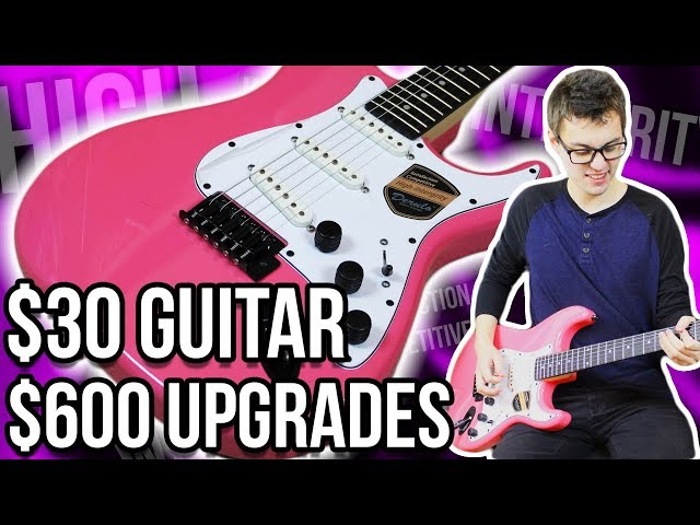 Pink $30 Guitar, $600 Upgrades!! || High-Intergrity Mod Project