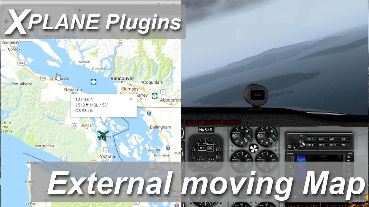 X Plane plugins and addons: External moving Map (google Maps)