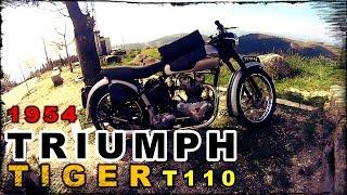 1954 Triumph Tiger T110 649cc OHV Twin Motorcycle, Vintage Triumph - KTM Duke 125 Laranjinha