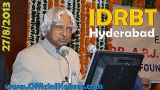 Video Dr. A.P.J. Abdul Kalam at  IDBRT Hyderabad 27th August 2013 download MP3, 3GP, MP4, WEBM, AVI, FLV Agustus 2018