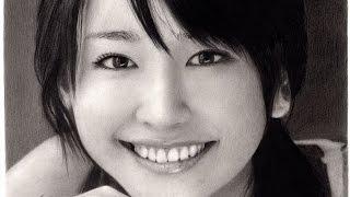 鉛筆画 新垣結衣 完成までの一部始終 動画 早送り / Pencil drawing/ Yui Aragaki/ Portrait/ How To Draw thumbnail
