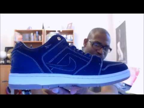 pretty nice 9c05e 45e23 Men's Shoes AO0298 441 NIKE SB AIR FORCE II LOW QS BINARY BLUE DENIM EAST  WEST ...