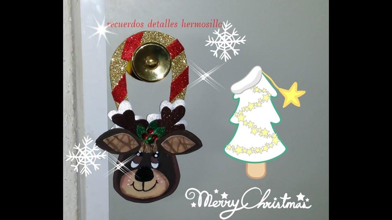 diy como hacer colgante para puerta navideo de reno christmas youtube
