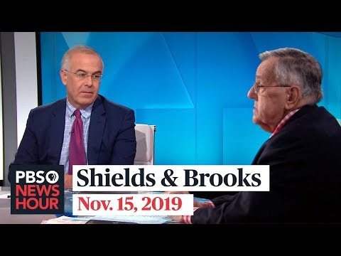 Shields and Brooks on impeachment testimony, newest 2020 Democrats
