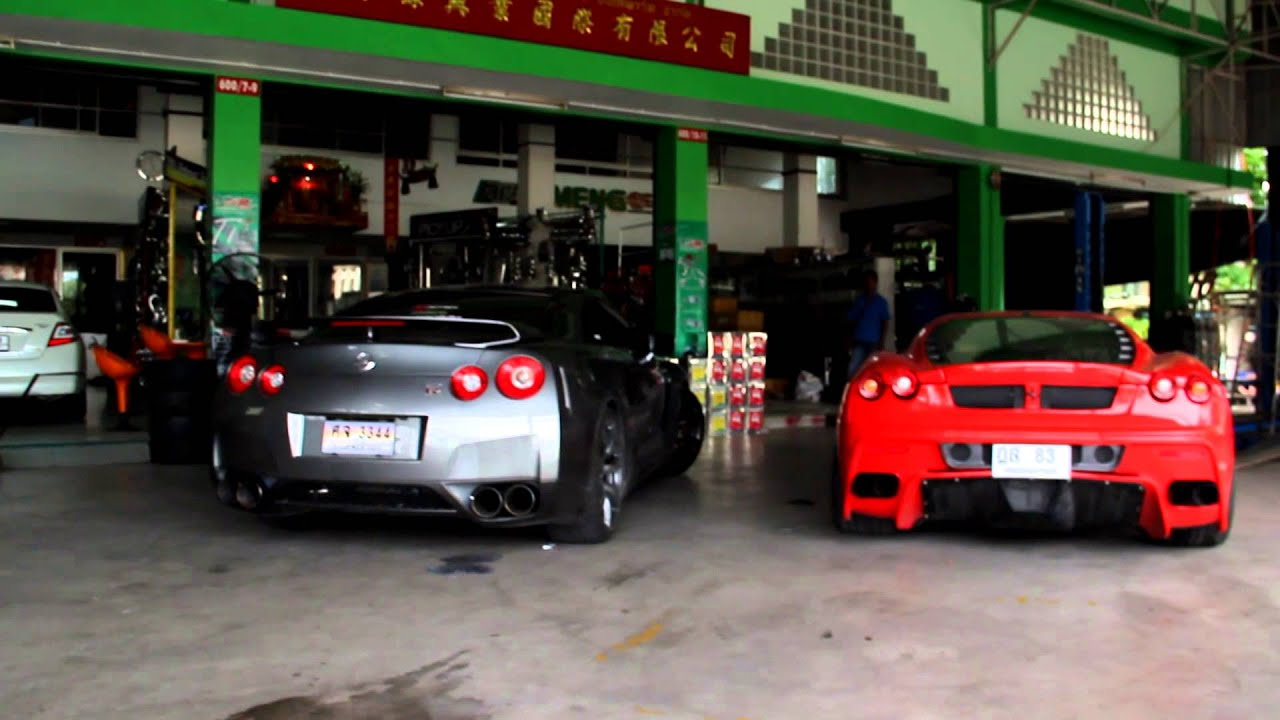 Gtr R35 Nissan Vs F430 Ferrari Hear Them Roar Youtube