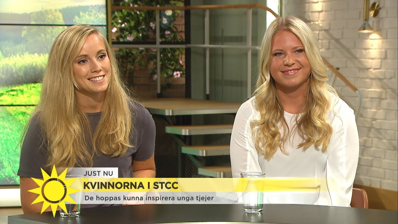 """Mikaela och Jessica tävlar i STCC: """"Målet är att få in mer tjejer i sporten"""" - Nyhetsmorgon (TV4)"""