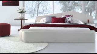 Pisa - Modern White Leather Platform Bed