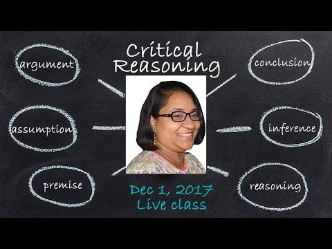 GMAT Critical Reasoning Live Session - Weaken an Argument