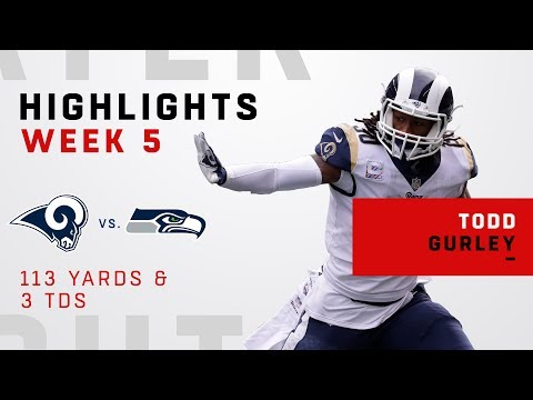 Todd Gurley's Great Game w/ 3 TDs vs. Seahawks!