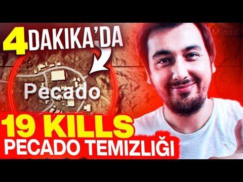 4 DAKİKA'da 19 KILLS İMKANSIZ PECADO TEMİZLİĞİ !!! MEZARCI PUBG MOBILE MIRAMAR GAMEPLAY