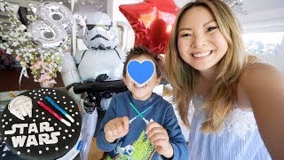 Johanns 8. Geburtstag! Emotionaler Tag für Mama 😭 Star Wars Torte & Kinder Party Deko | Mamiseelen