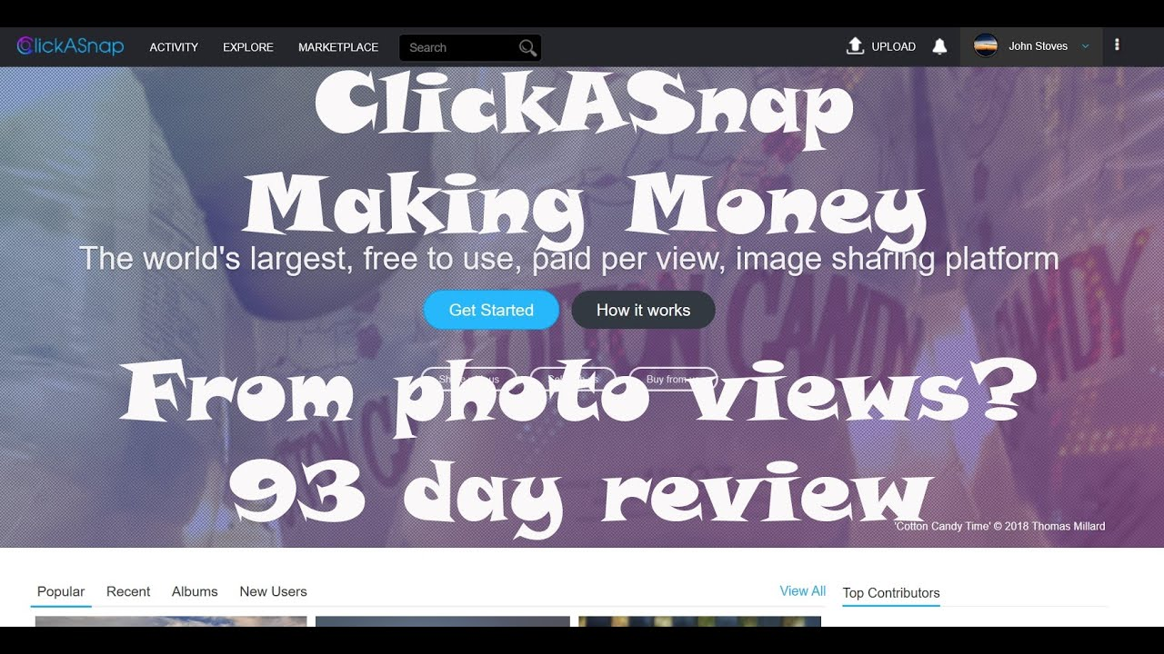 ClickASnap - #8 - 93 days in a review and some stats - YouTube