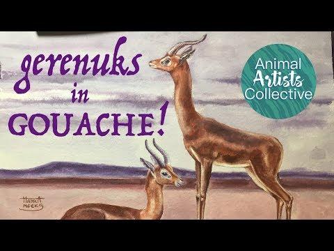 Gerenuks In Gouache (AAC)!