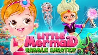Little Mermaid Bubble Shooter Game | Fun Game Play Video By Baby Hazel Games