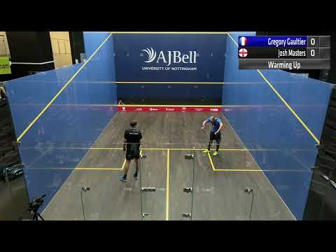 Match 2 Gregory Gaultier (FRA) Vs  Josh Masters (ENG)AJ Bell European Individual Squash Championship