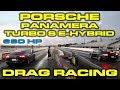 680HP Porsche Panamera Turbo S E-Hybrid vs 911 Turbo S Drag Racing 1/4 Mile + Vanilla ICE Races
