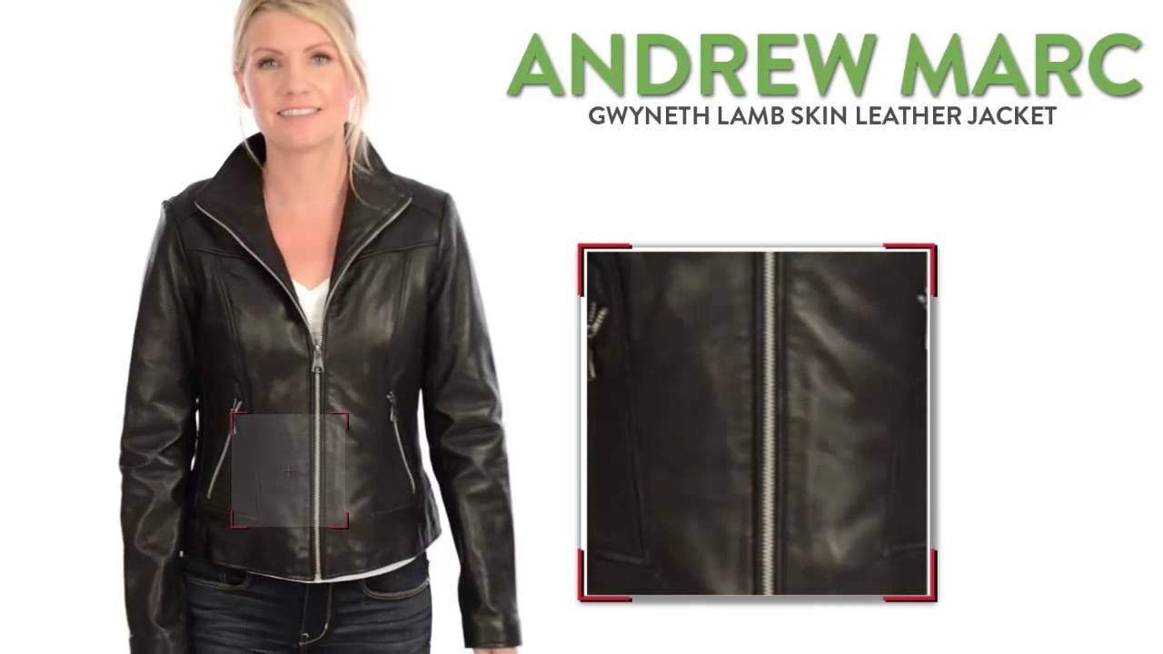 Andrew marc leather bomber jacket womens