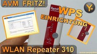 Schnelleinrichtung per WPS: AVM FRITZ! WLAN Repeater 310 / WiFi Verstärker 802.11b/g/n WPA2