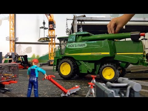 BRUDER TRACTORS for Children FARM WORLD all machines in! LONG PLAY in JACK'S WORLD
