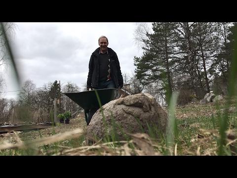 Knepet för att flytta tunga stenar i trädgården - Roger visar