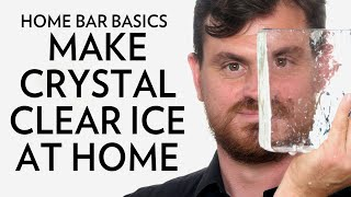 How to make the BEST crystal CLEAR Ice cubes for your cocktails