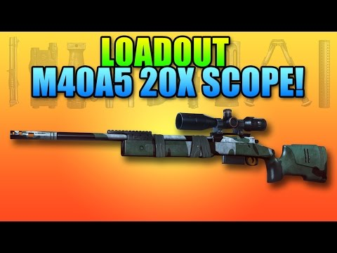 BF4 Loadout M40A5 Hunter 20x Scope | Battlefield 4 Sniper Rifle Gameplay