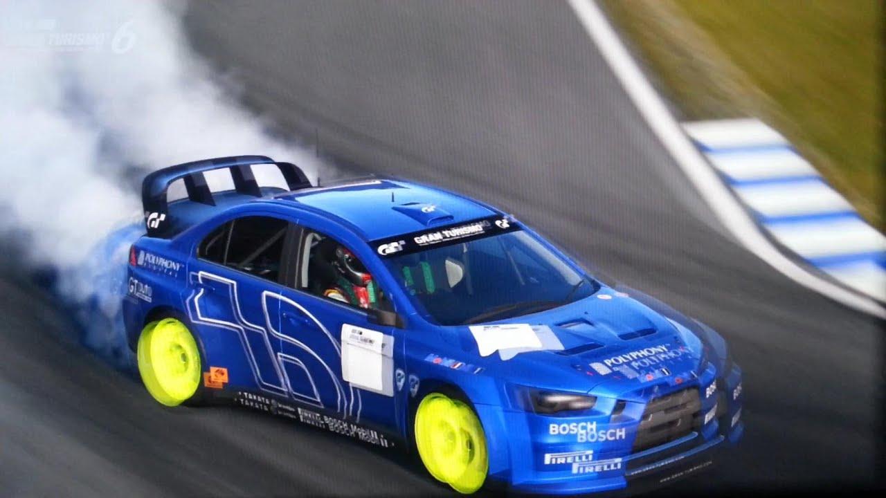 GT6 Drift \\ Mitsubishi Lancer Evolution X Rally Car - YouTube