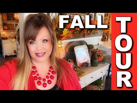 FALL 🍁 HOME TOUR - THE FAMILY ROOM, KITCHEN, AND SUNROOM, JOIN ME!!
