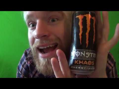Kristofer Tasting Monster KHAOS ENERGY + JUICE + GINSENG + B VITAMINS + L - CARNITNE + TAURINE