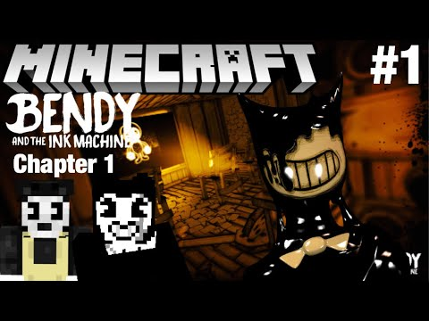 Bendy And The Ink Machine Chapter 1 In Minecraft Part 1 - Map Showcase