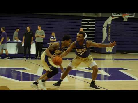 UW Men's Basketball Media Day - Words with Coach Hopkins, players.