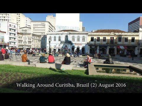 Walking Around Centro Curitiba, Brazil (2) - Aug 2016 - DJI OSMO