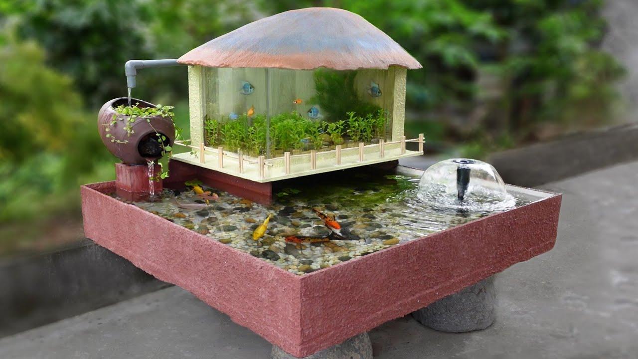 Make a Beautiful Aquarium at home with Simple Tool