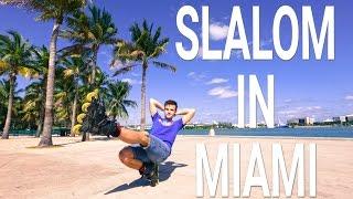 Фристайл слалом на роликах в Майами 2017