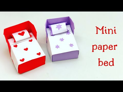 diy-mini-paper-bed-/-paper-crafts-for-school-/-paper-craft-/-easy-kids-craft-ideas-/paper-craft-new