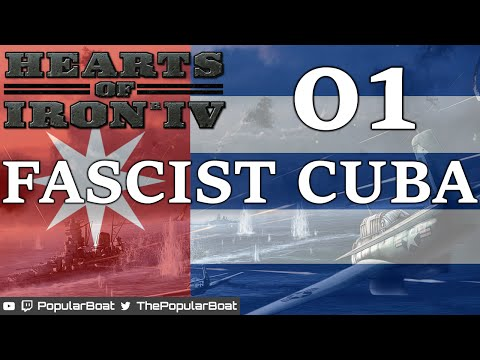 Hearts of Iron IV [Fascist Cuba | 1.1 beta] Part 01 - Speed 5 to death