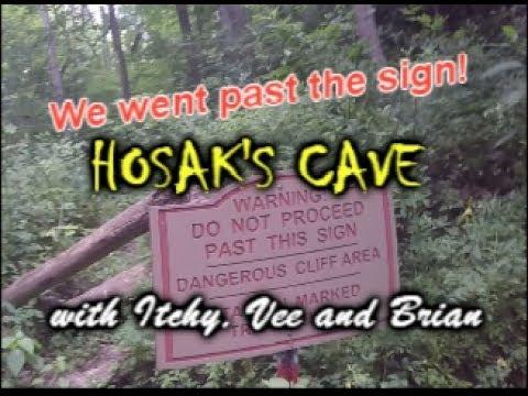 Hiking To Hosaks Cave At Salt Fork
