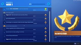 ALL SEASON 9 WEEK 1 BATTLE PASS CHALLENGES (Fortnite Battle Royale)