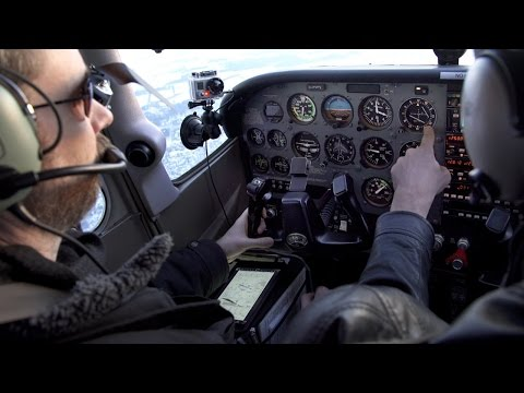 IFR training - Holding with 51 knot wind - POV Flying - ATC audio