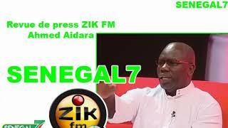 Revue de presse (Wolof) Zik Fm du Mardi 10 Décembre 2019 avec Ahmed Aidara
